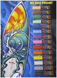 Existen marcadores especiales para dibujar y crear diseños artisticos sobre  nuestras tablas de surf o skate. Son utilizados por los fabricantes de  tablas ... 7591fc67de8