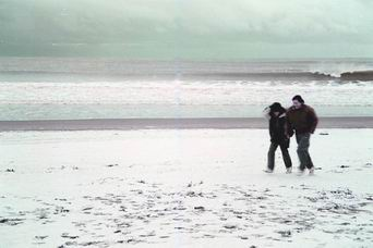 Nieve en la playa